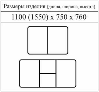 "Схема с размерами стола ""МАНУЛ"""